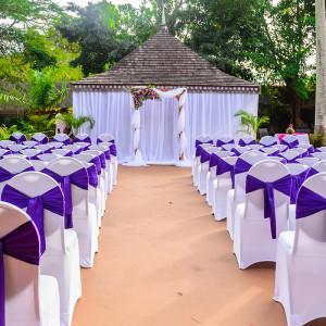 Poolside Wedding Ceremony